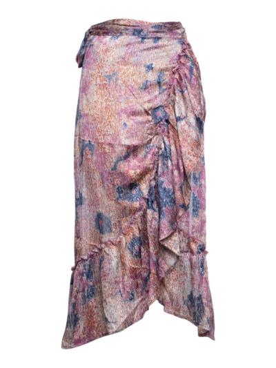 Lange rok met overslag