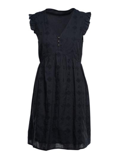 Korte jurk met perfodetail