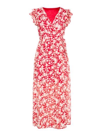 Lange jurk met overslag