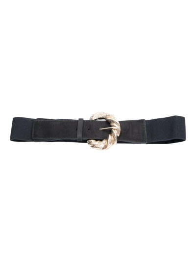 Stretch belt with buckle detail