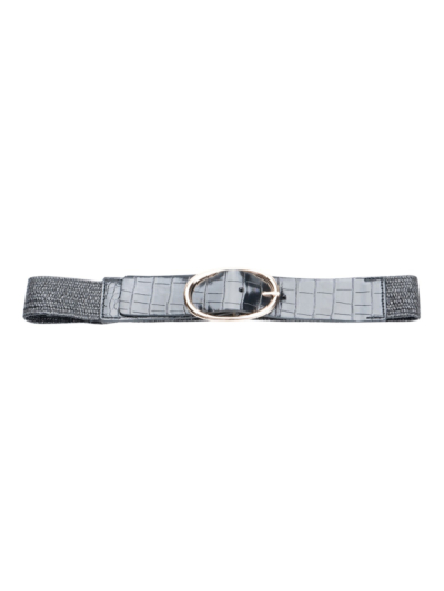 Stretch belt with oval buckle