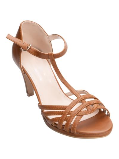 Sandal with heel