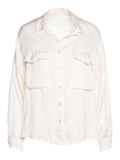 Satijnen hemd met zakjes