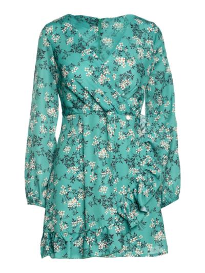 Overslag jurk met bloemen