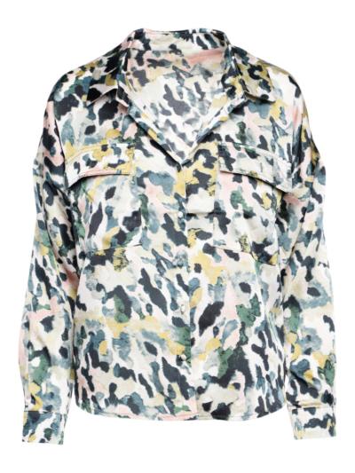 Fluiede bloes met print