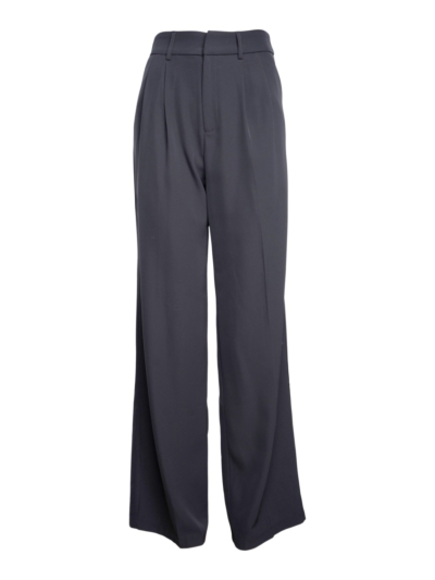 Fluiede geklede broek met detail