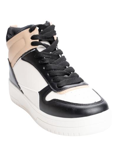 Middenhoge sneaker bicolor