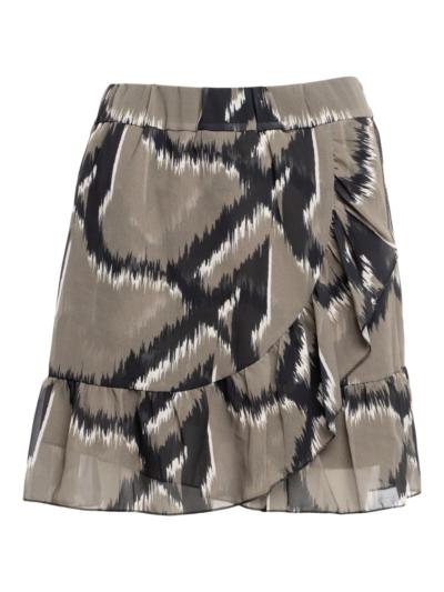 Wrap skirt with print