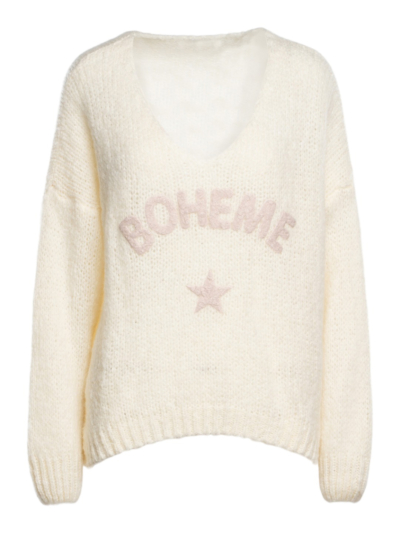 Sweater with v-neck Boheme