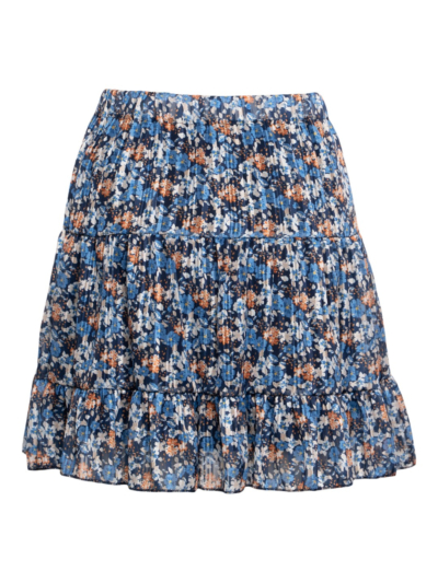 Skirt with flowers and lurex
