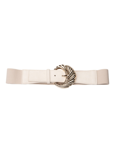 Stretch belt with large buckle