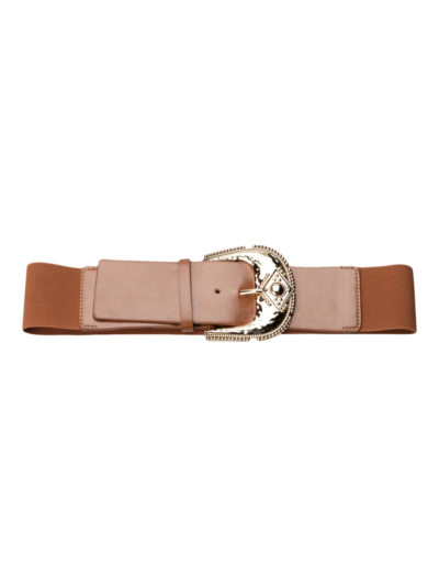 Stretch belt with western buckle