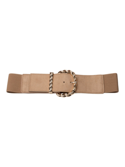 Stretch belt with twisted buckle