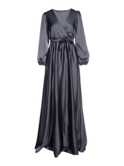 Lange satijnen jurk