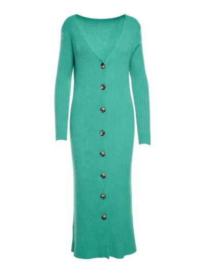 Bodycorn jurk met rib en knopen