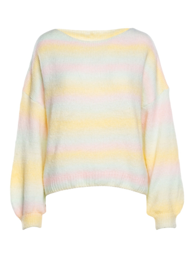 Sweater boat neck Rainbow