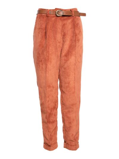 Velourse broek met zakjes