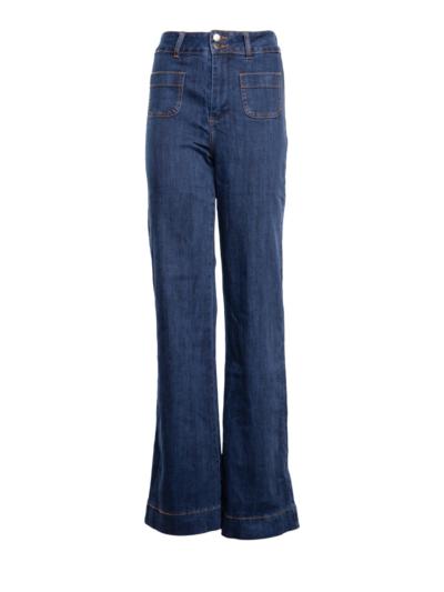 Hoge jeans waist flaire