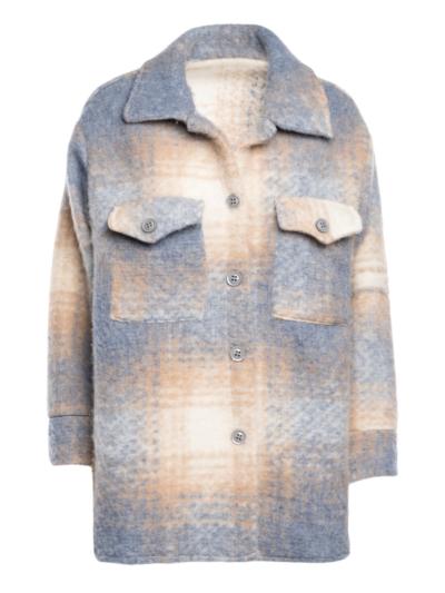 Korte mantel tartan