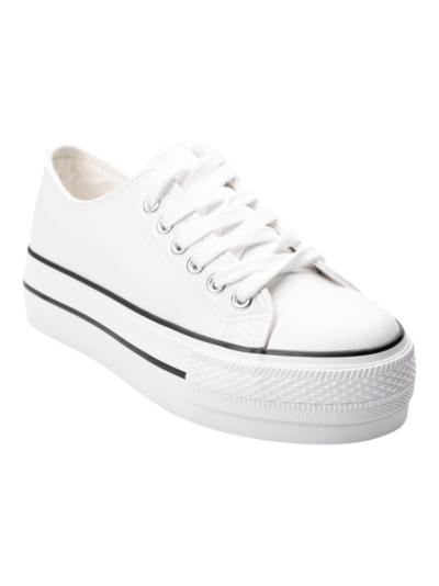 Sneaker in retro lederlook