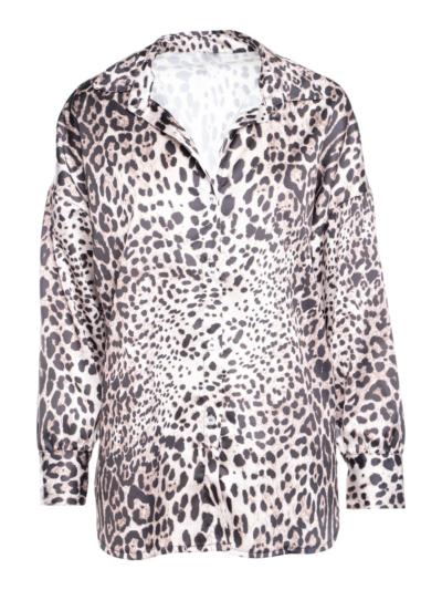Satijnene hemd leopard