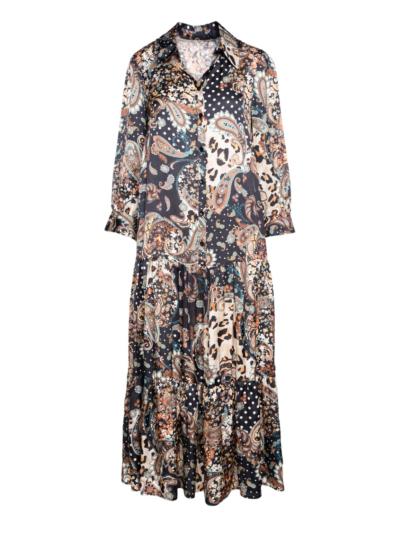 Lange jurk liberty perzisch print