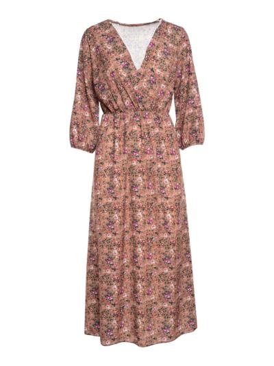 Lange jurk met Liberty print