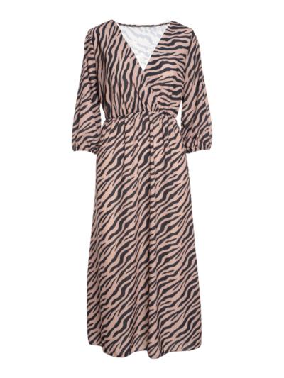 Lange jurk met Zebra print