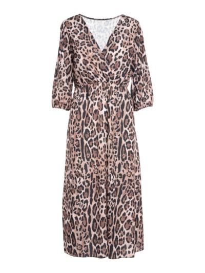 Lange jurk met Leopard print