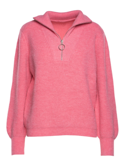 Sweater with collar and zipper