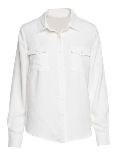 Soft blouse with pockets