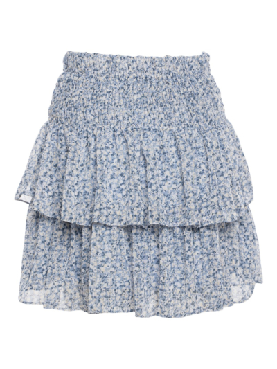Short skirt with flowers