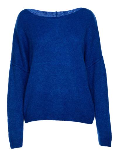 Zachte trui met mouwdetail