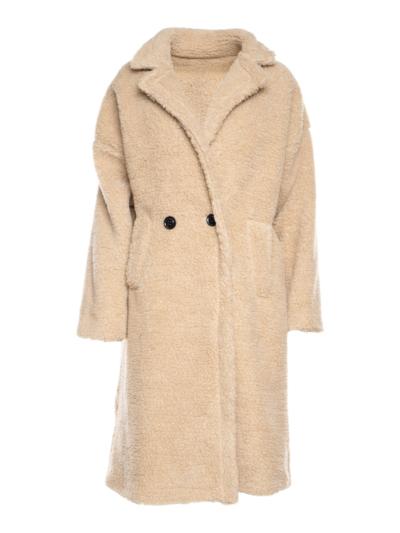 Lange teddy mantel