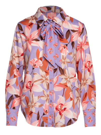 Shirt with flower bow