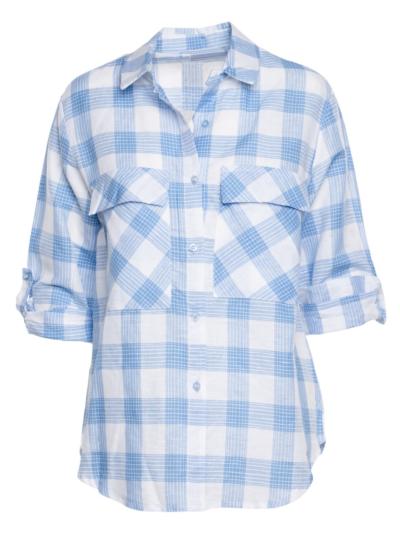 Cotton shirt with checks