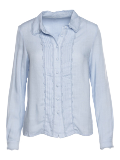 Soft shirt with dentelle