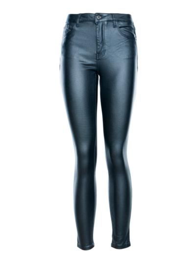 Leather look pants 5 pocket