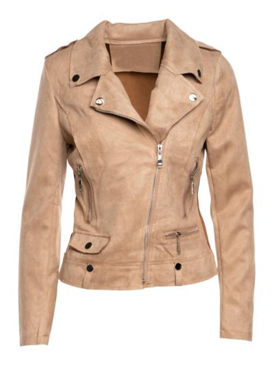 Suedine jacket with pockets