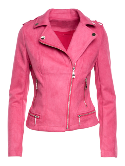 Suede jacket with zippers