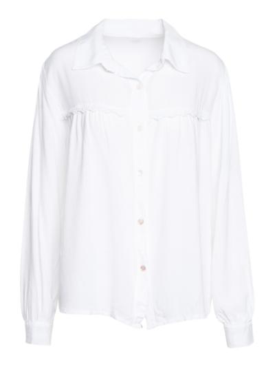 Zachte blouse met haakwerk