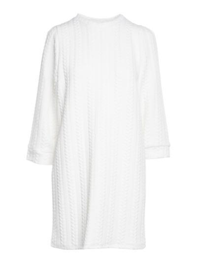 Tricot jurk met motief