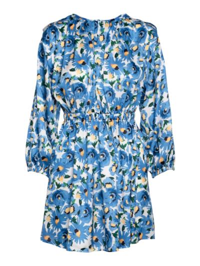 Short dress with shoulder detail