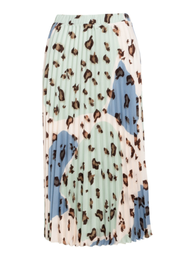 Skirt mid with pleats and print