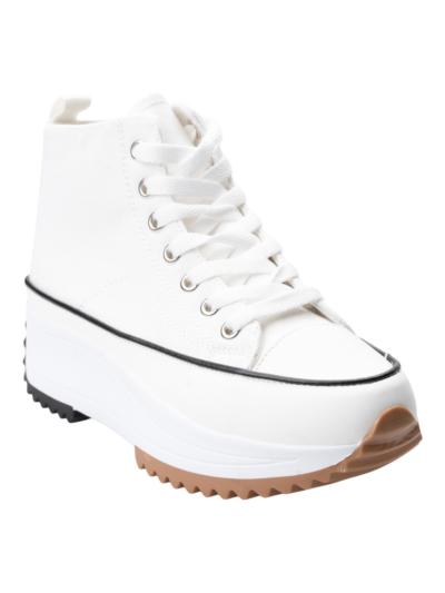 High top sneaker met trackzool