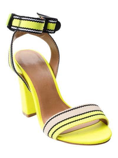Sandaal met fluo detail