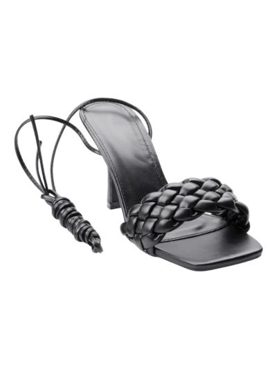 Sandaal met vlechtwerk