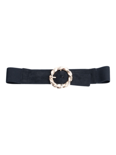 Stretch belt with round buckle