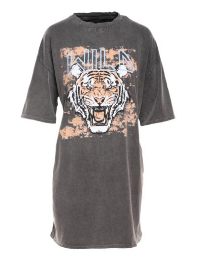 Jurk in T-Shirtstof TIGER