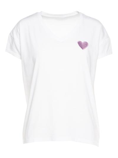 T-shirt V hals Hartje